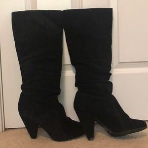Jessica Simpson suede slouch boots